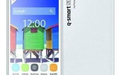 Mobilní telefon myPhone Q-SMART LTE DualSIM, bílý