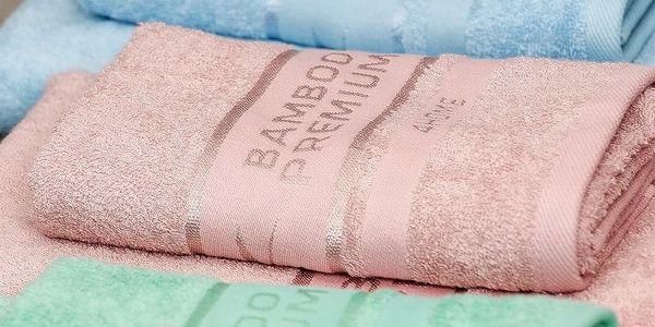 4Home Bamboo Premium ručník růžová, 50 x 100 cm, sada 2 ks2