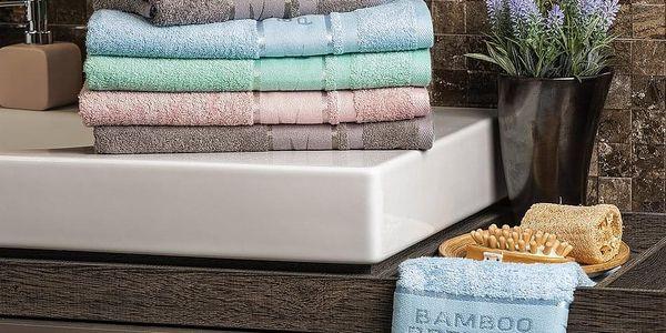 4Home Bamboo Premium ručník růžová, 50 x 100 cm, sada 2 ks4