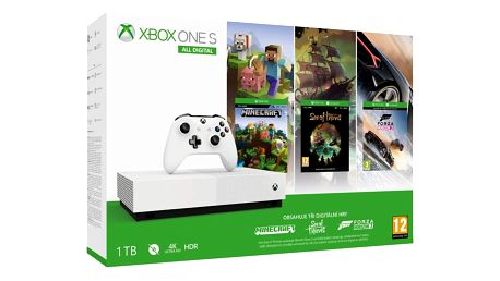 Herní konzole Microsoft Xbox One S 1 TB All-Digital Edition (NJP-00033)