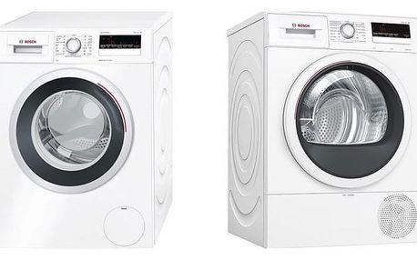 Set (Automatická pračka Bosch WAN28260CS) + (Sušička prádla Bosch WTR85V00CS) + DOPRAVA ZDARMA