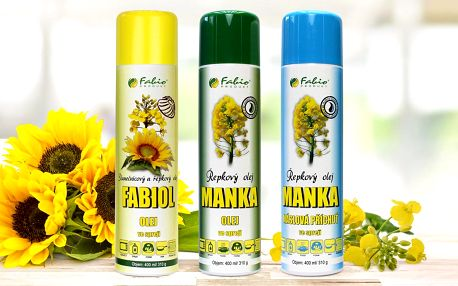 Řepkový a slunečnicový olej ve spreji
