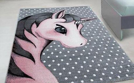 Vopi Kusový dětský koberec Kids 590 pink, 120 x 170 cm