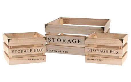 Koopman Sada dekoračních úložných boxů, 3 ks