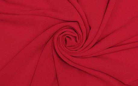 Dámský červený šátek Chiffon