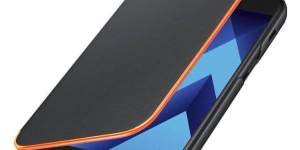 Pouzdro na mobil flipové Samsung Neon flip pro Galaxy A3 2017 černé (EF-FA320PBEGWW)5