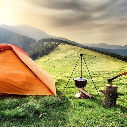 Outdoorový zážitek - přespání ve stanu v Krkonoších pro dva