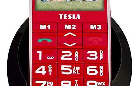 Mobilní telefon Tesla SimplePhone A50 (TAMBPSNA50RD) červený SIM karta T-Mobile SIM s kreditem T-mobile Twist V síti 200 Kč kredit - hlasové volání v hodnotě 200 Kč