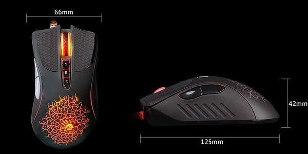 Myš A4Tech A90 Blazing (A90) černá / laserová / 8 tlačítek / 4000dpi3