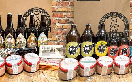 Balíčky s řemeslnými pivy, masem i paštikami