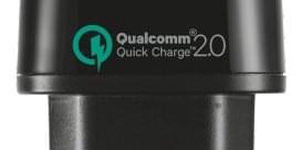 Nabíječka do sítě Trust Ultra Fast, 1x USB, 1A s funkcí rychlonabíjení (21063) černá4