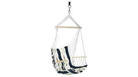 Houpačka CRAIG modré, bavlna, max 150 kg, 100x50 cm