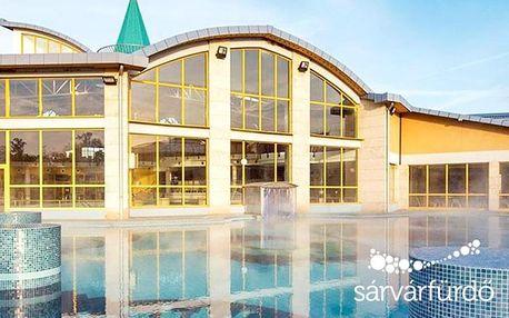 Maďarské termály Sárvár v penzionu v centru se snídaní nebo polopenzí + varianty se vstupem do termálů