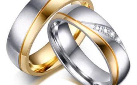 Elegantní snubní prstýnek
