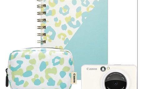 Digitální fotoaparát Canon Zoemini S Essential Kit bílý