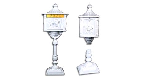 Tuin 1407 Ozdobná poštovní schránka - bílá