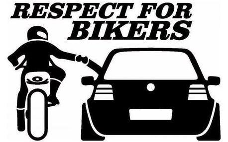 Nálepka na auto - RESPECT FOR BIKERS
