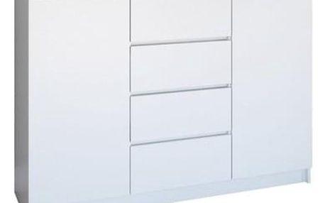 Komoda 2D4S 120 cm bílá