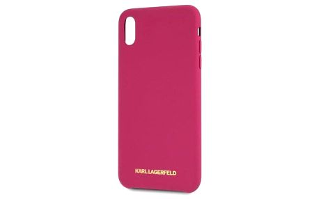 Karl Lagerfeld Silicone Case pro Apple iPhone XR - fuchsiový (KLHCI61SLROG)