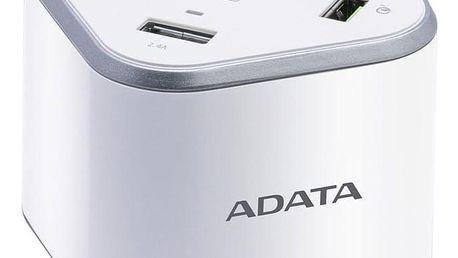 ADATA USB Charging Station, 4x USB, 1x USB-C bílá (ACU0480QCPS-CEUWH)