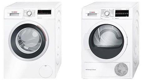 Set (Sušička prádla Bosch WTW87467CS) + (Automatická pračka Bosch WAN28260CS) + DOPRAVA ZDARMA