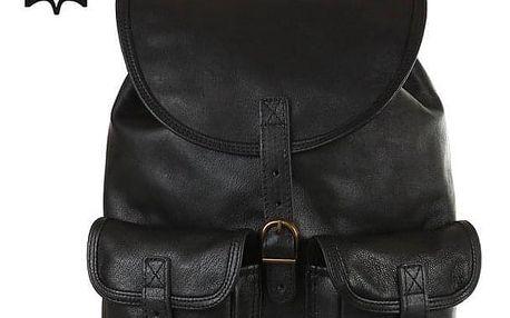 Velký dvoukapsový kožený batoh - Česká výroba černá