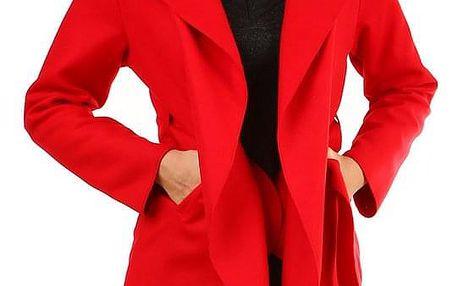Dámský fleecový kabátek s kapucí červená