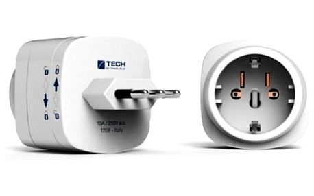 Cestovní adaptér TECH TBU-931 pro Itálii bílý
