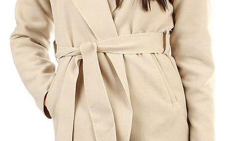 Dámský fleecový kabátek s kapucí béžová