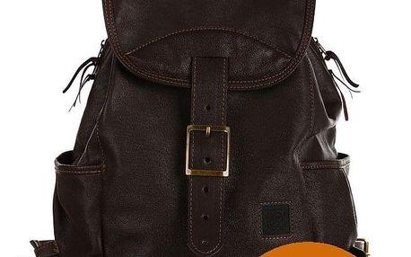 Velký kožený batoh - Česká výroba zrzavá