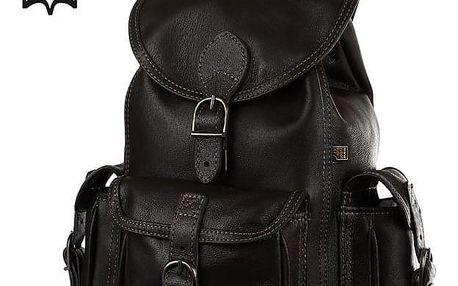 Malý tříkapsový batoh z pravé kůže - Česká výroba černá