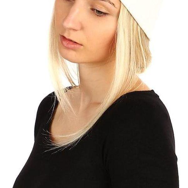 Jednobarevná čepice tmavě béžová4