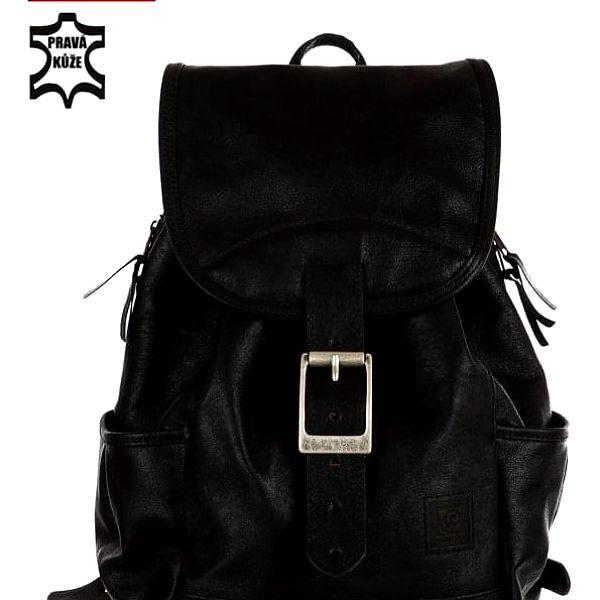 Velký kožený batoh - Česká výroba černá