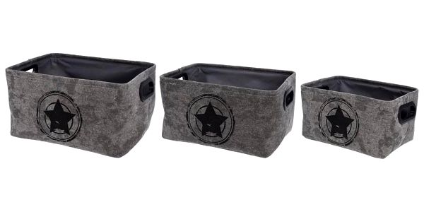 Koopman Sada dekoračních úložných boxů Star in Target, 3 ks