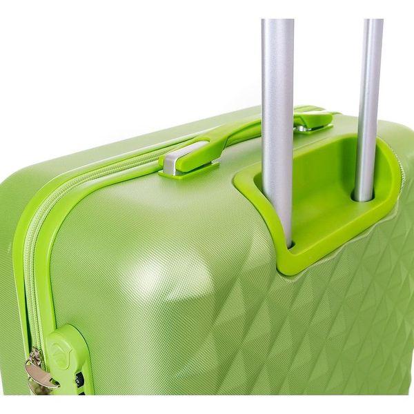 Pretty UP Cestovní skořepinový kufr ABS21 L, zelená2