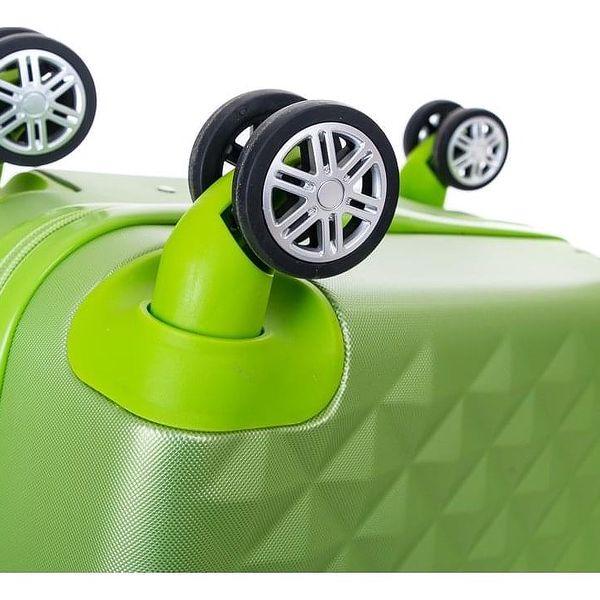 Pretty UP Cestovní skořepinový kufr ABS21 L, zelená3