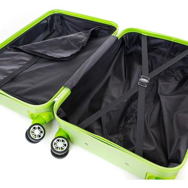 Pretty UP Cestovní skořepinový kufr ABS21 L, zelená4
