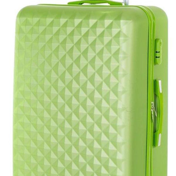 Pretty UP Cestovní skořepinový kufr ABS21 L, zelená