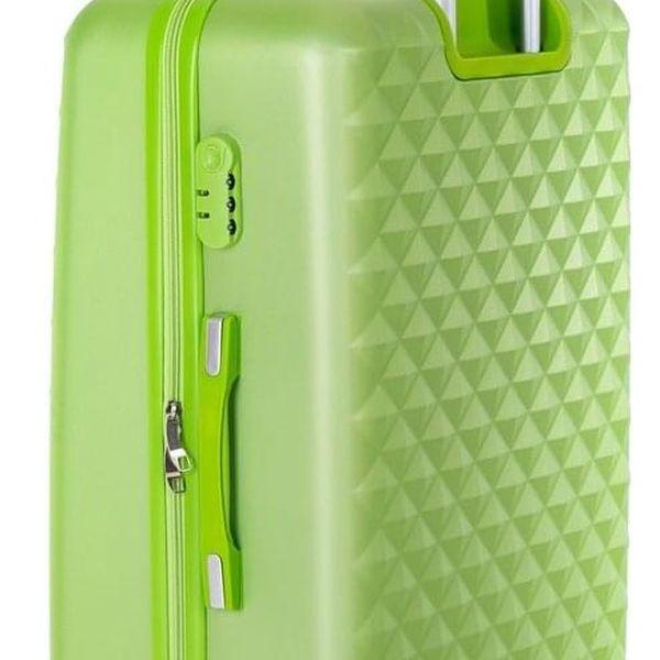 Pretty UP Cestovní skořepinový kufr ABS21 L, zelená5
