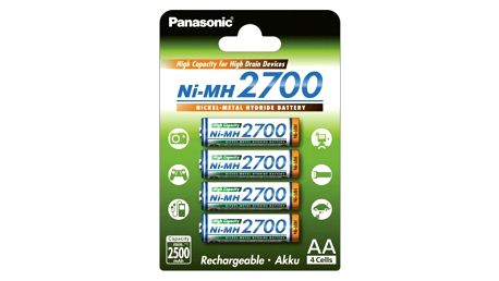Panasonic AA, HR06, 2700mAh, Ni-MH, blistr 4ks (359778)