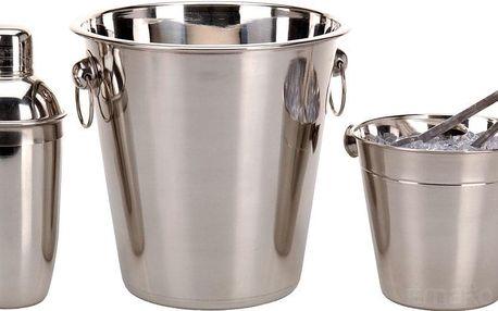 EH Excellent Houseware Barmanský set: nádoba na alkohol, kbelík na led, kleště, šejkr