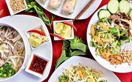 Vietnamské menu pro 2: vege, tradiční či s nudlemi