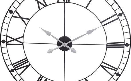 Segnale Kovové nástěnné hodiny, barva černá, Ø 88 cm