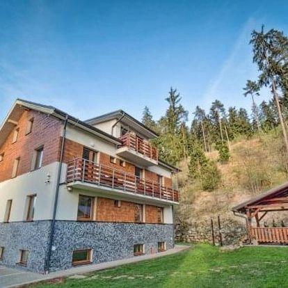 Nízké Tatry v De Luxe apartmánu ve Vile Vista se snídaní a finskou kádí