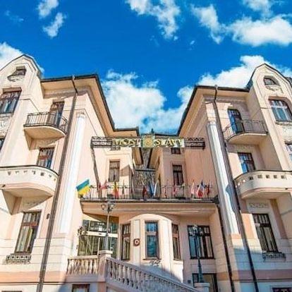 Trenčianske Teplice v Hotelu Most Slávy *** s procedurami, bazénem a polopenzí