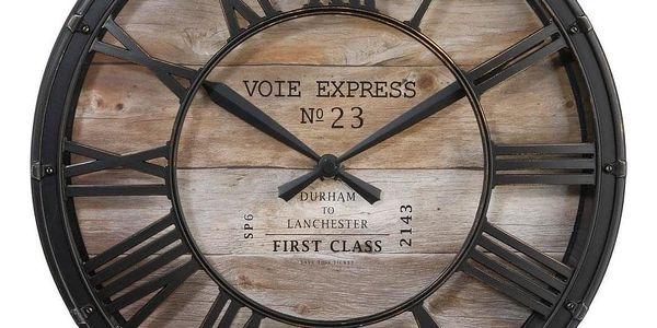 Atmosphera Nástěnné hodiny Vintage Ø 39 cm, římské číslice