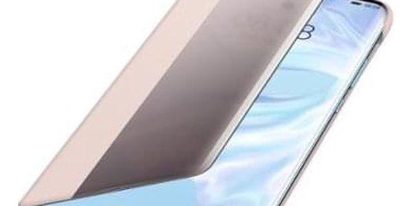 Pouzdro na mobil flipové Huawei Smart View pro P30 Pro růžové (51992884)3