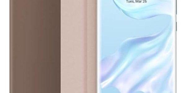 Pouzdro na mobil flipové Huawei Smart View pro P30 Pro růžové (51992884)4