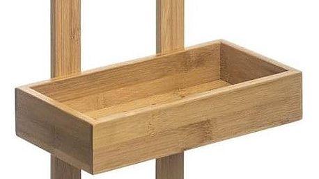 5five Simple Smart Koupelnová police upevněná pomocí věšáku, vyrobena z estetického bambusového dřeva, odolná proti vlhkosti