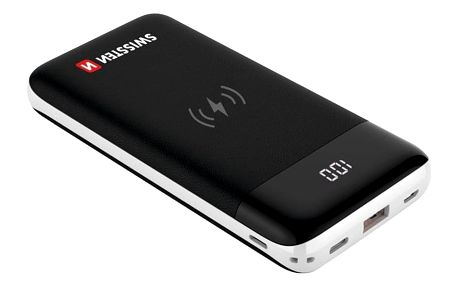 Powerbank Swissten All-In-One 10000mAh, Micro USB/USB-C/Lightning, QC 3.0, Qi černá (22013927)